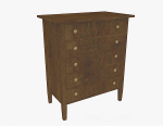 Retro wooden entrance cabinet 3d model