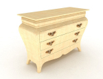 European yellow bedside cabinet 3d model