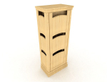 Yellow wood locker 3d model