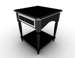 European simple small coffee table 3d model