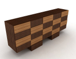 Personalized wooden cabinet 3d model