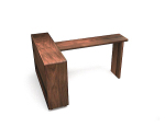 Wooden bar table 3d model