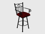 High - legged leisure chair 3d model