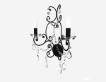 European black chandelier 3d model